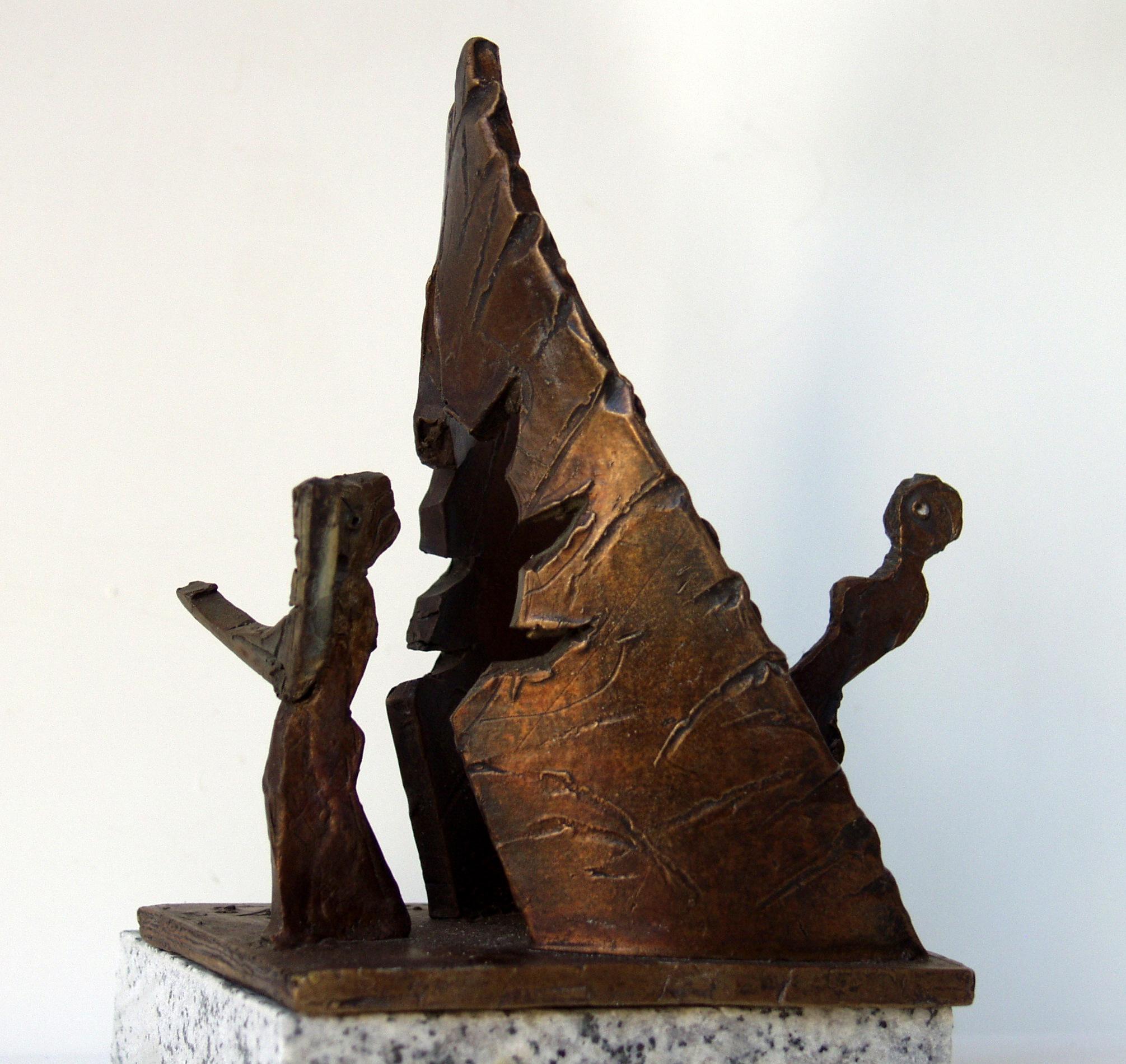 Orpheus vor dem  Hadestor,  Bronze,  Höhe = 16 cm