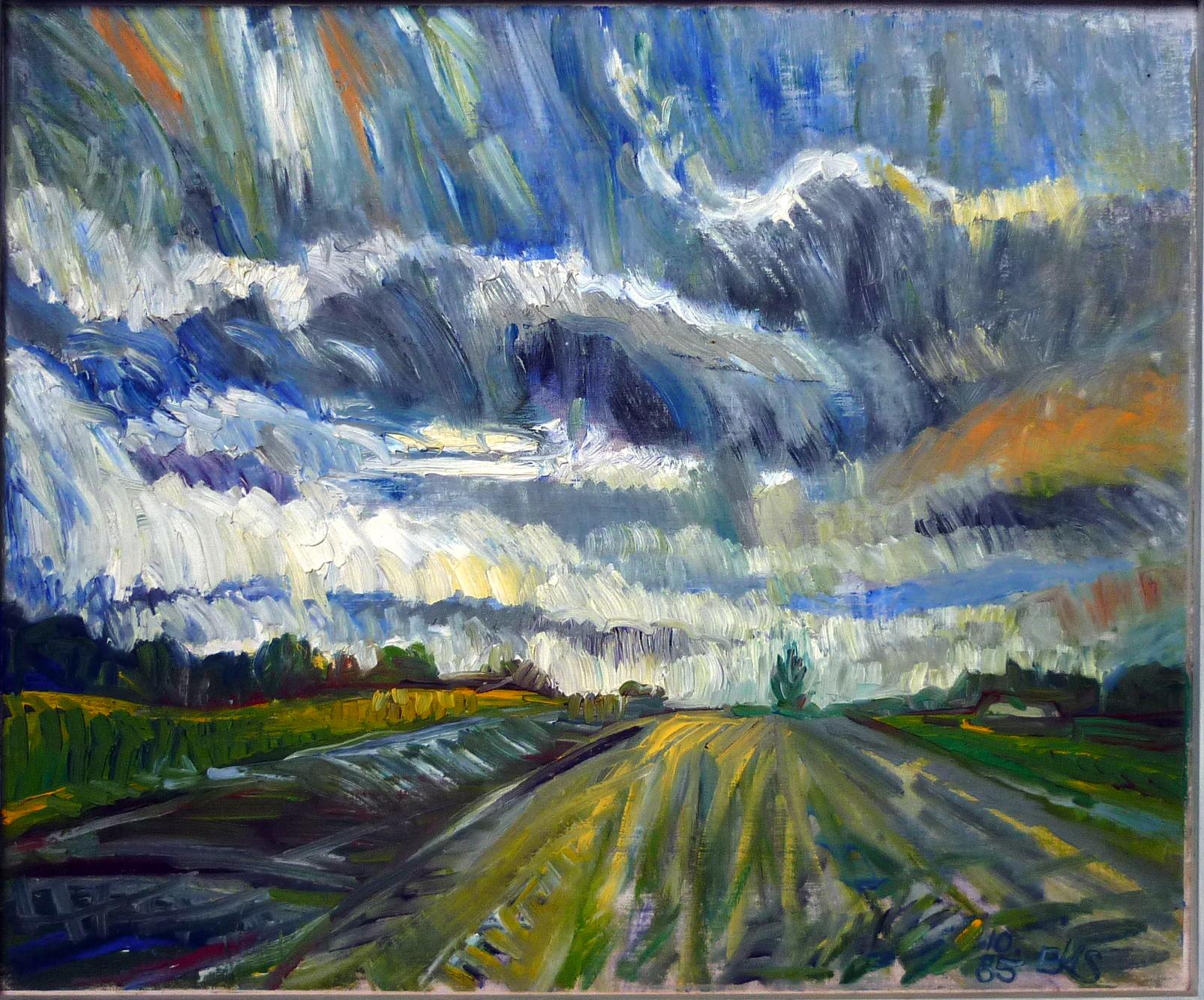 Himmel bei Stenum 50 x 60 cm