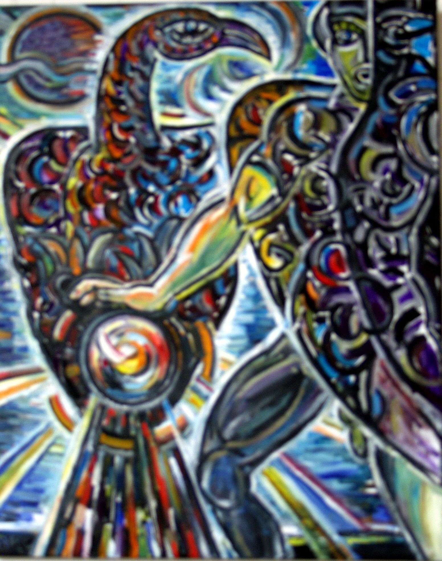 Prometheus, der Bedrohte            100 x 80 cm