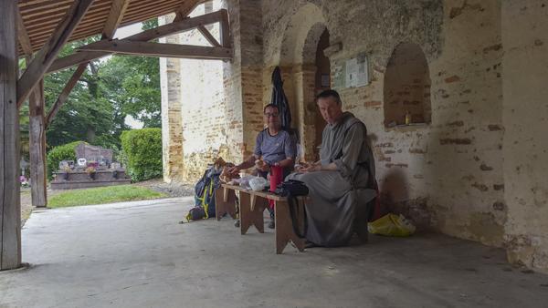 A l'église de l'Hôpital avec Frère Olivier