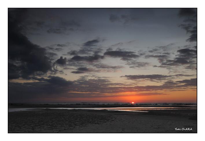 la Camargue, couché de soleil