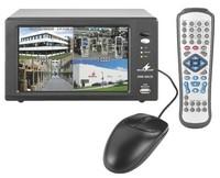 Alarmanlage:4-Kanal-digital-multiplex-Recorder-mit TFT-LCD-Farbmonitor