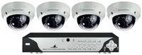 TVCCD-252SET   Video-Überwachungsset  8-Kanal-Digital-Recorder DMR-188:  bestehend aus 8-Kanal-Digital-Recorder und 4 hochauflösenden Dome-Farb-Kameras