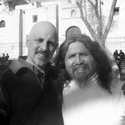 Con Manuelcha Prado. Arequipa, Perú.