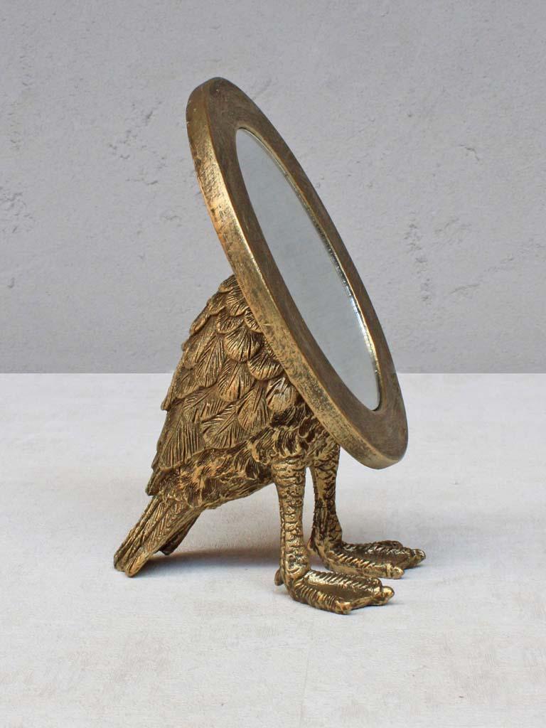 Miroir ovale avec pieds palm s wanderlust concept store - Miroir ovale sur pied ...
