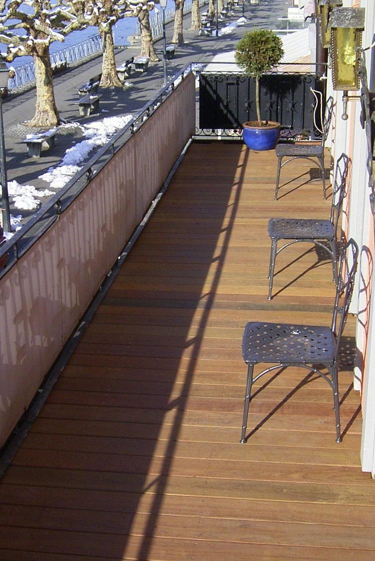 Balkonbelag aus Ipé Holz