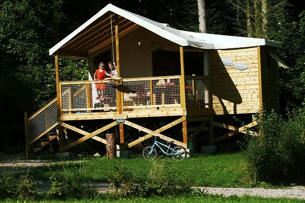 Ecolodge sur pilotis dans un camping 4 toiles avec for Camping dans la somme avec piscine