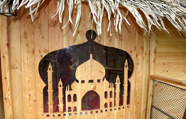 cabane romantique retour d'Orient perché dans les arbres en baie de somme