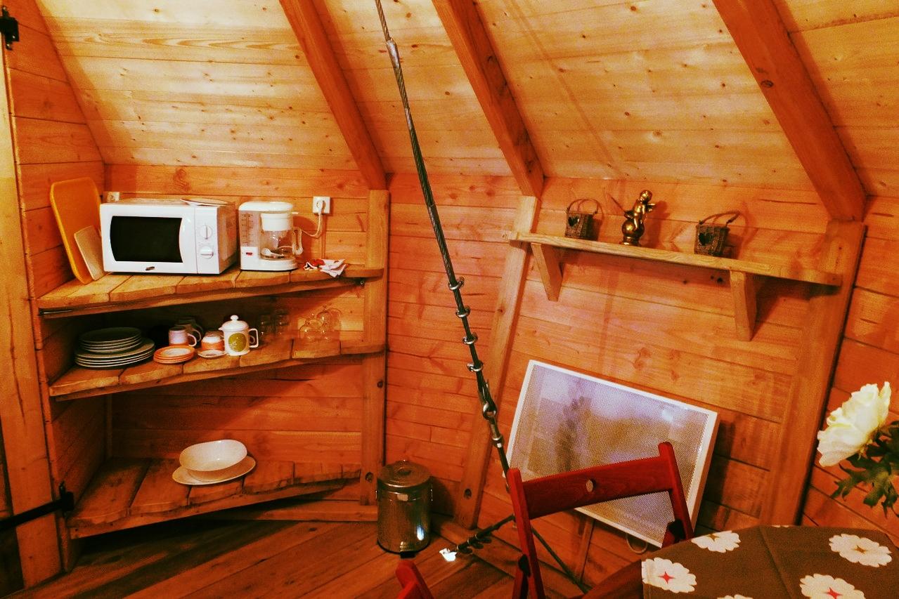 Louer un séjour romantique dans la cabane avec chauffage