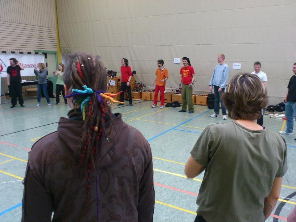 Aufwärmspiele vor den Workshops