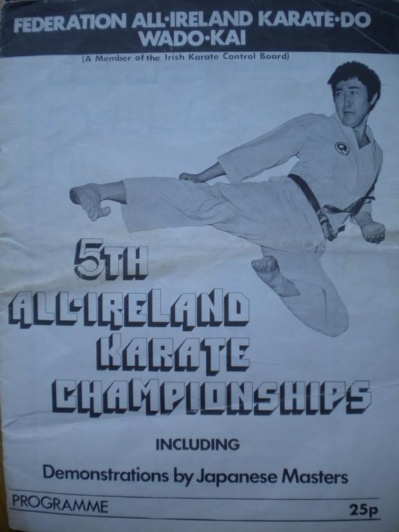 5TH ALL IRELAND WADO KAI CHAMPIONSHIPS MID 1970S