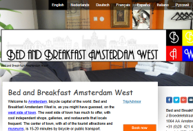 B&B Amsterdam website 2015-2018