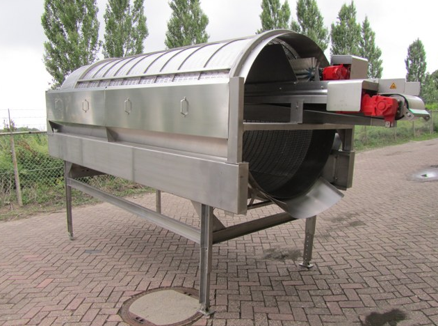 Kesilmemiş fasulyeleri ayırmak için kullanılan makine