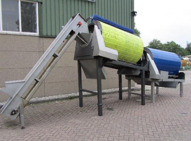 Yeşil Fasulye küme ayrım ve sap koparma makinesi
