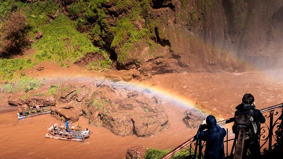 sopra l'arcobaleno - cascate di Ouzoud - Marocco