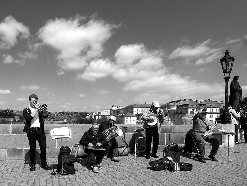 musicisti sul Ponte Carlo