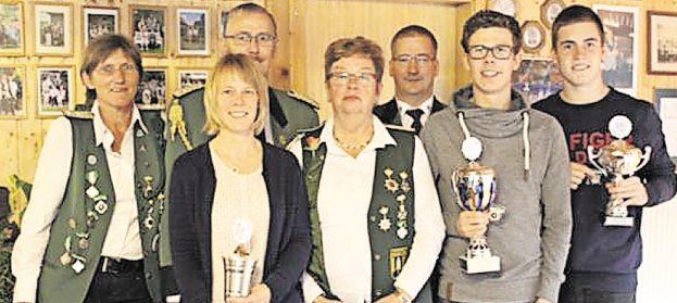 Die Pokalgewinner des Schützenvereins Weißenmoor. Foto: Verein
