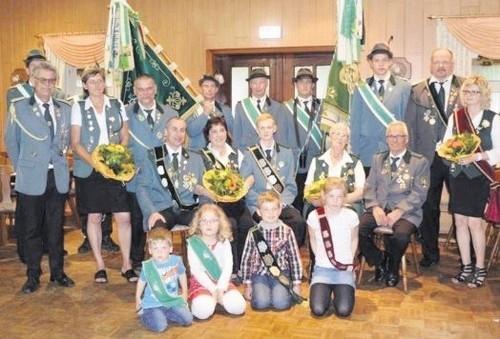 Die neuen Majestäten des Schützenvereins Wingst-Weißenmoor.        Foto: Schützenverein