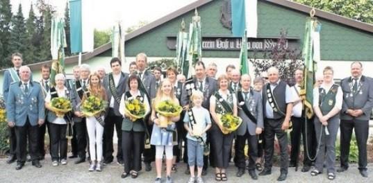 Die neuen Würdenträger vom Schützenverein Grift.             Foto E. Jäger