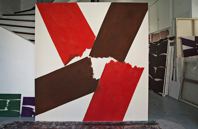 SF dans l'atelier  1,80 x 1,90 m avril 2015   ©BD-F