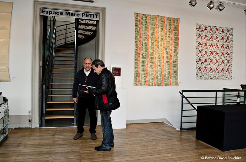 JC Hyvernaud Serge Fauchier galerie Artset Limoges ©BD-F