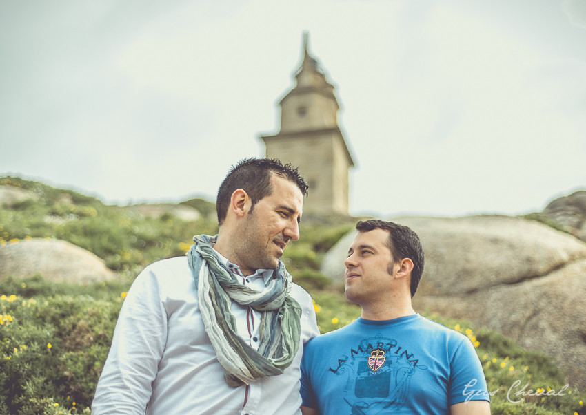 Prebodas en Torre de Hércules, Coruña, Gus Cheval