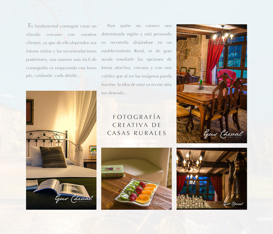Fotografo de Hoteles y Casas de Turismo Rural