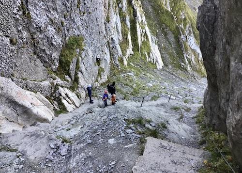 Bergwandern, Treppensteigen, Wandern, Aussicht, Schweiz, Alpen, Berneroberland, Lattgässli, Steil