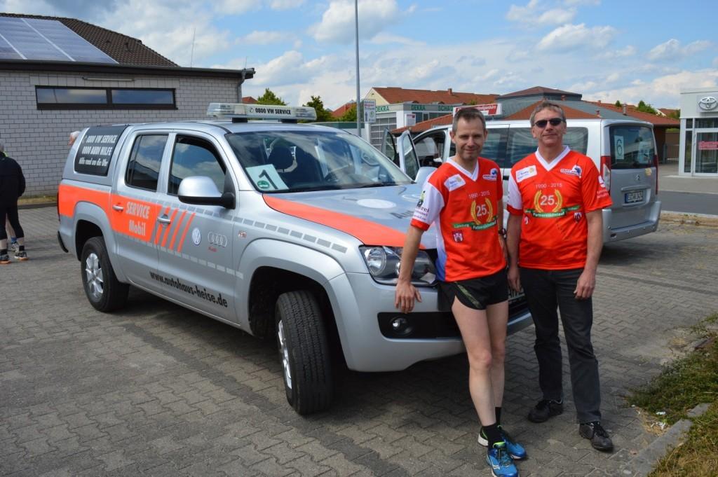 Team 1 - Gerald & Hartwig vom Führungsfahrzeug