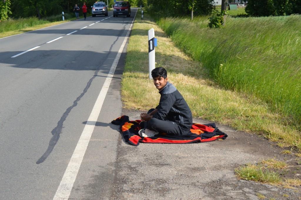 Ist das ein fliegender Teppich während einer Pause?