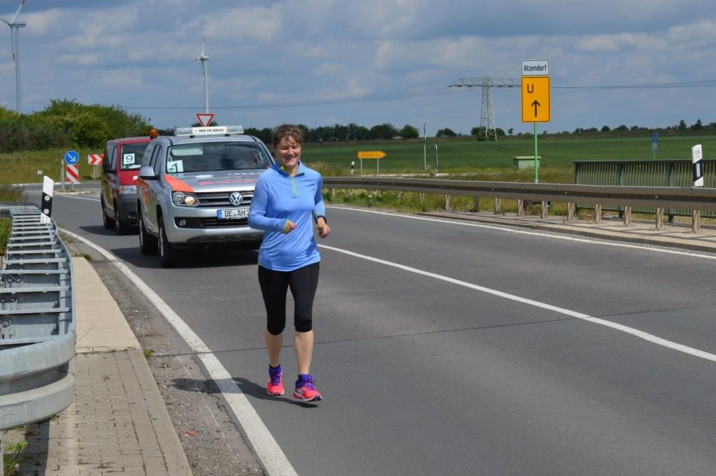 Birgit vom Team 9 auf der Strecke
