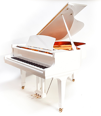 Piano quart de queue  15 750 € T.T.C. Steinberg P-165 cm blanc verni