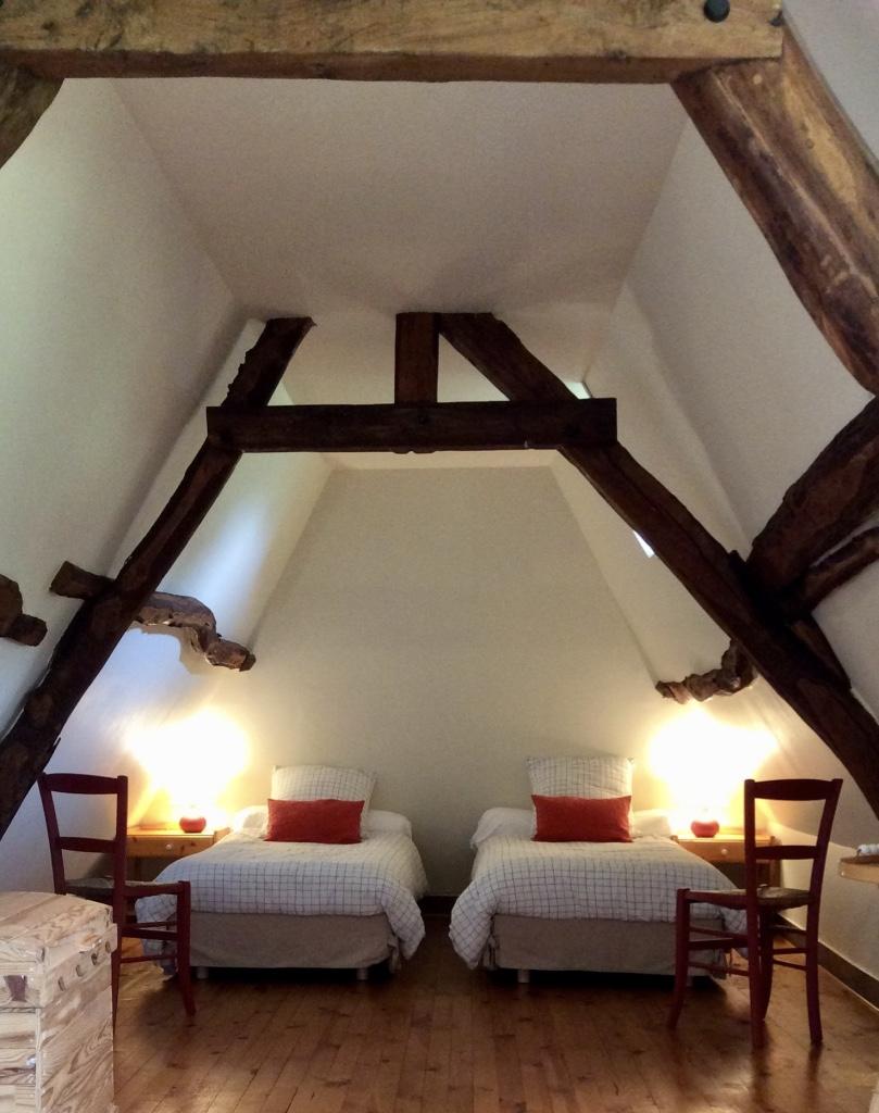 Chambre twin 1er étage Gîte la Mare au Coq