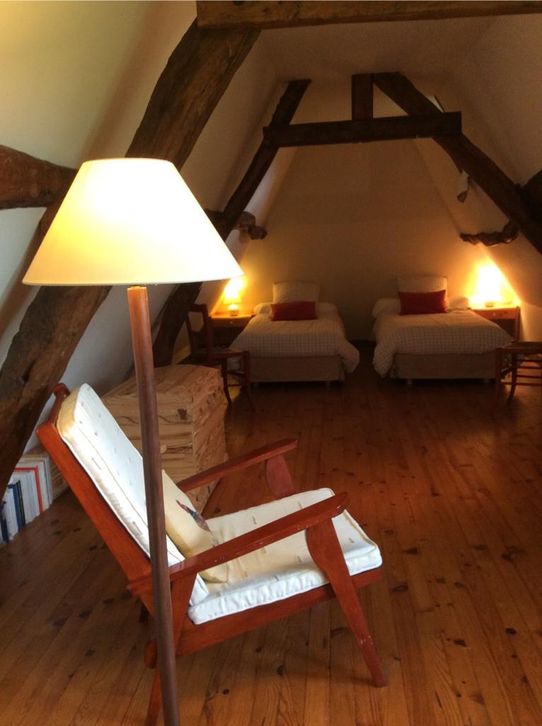 Chambre à l'étage Gîte la Mare au Coq