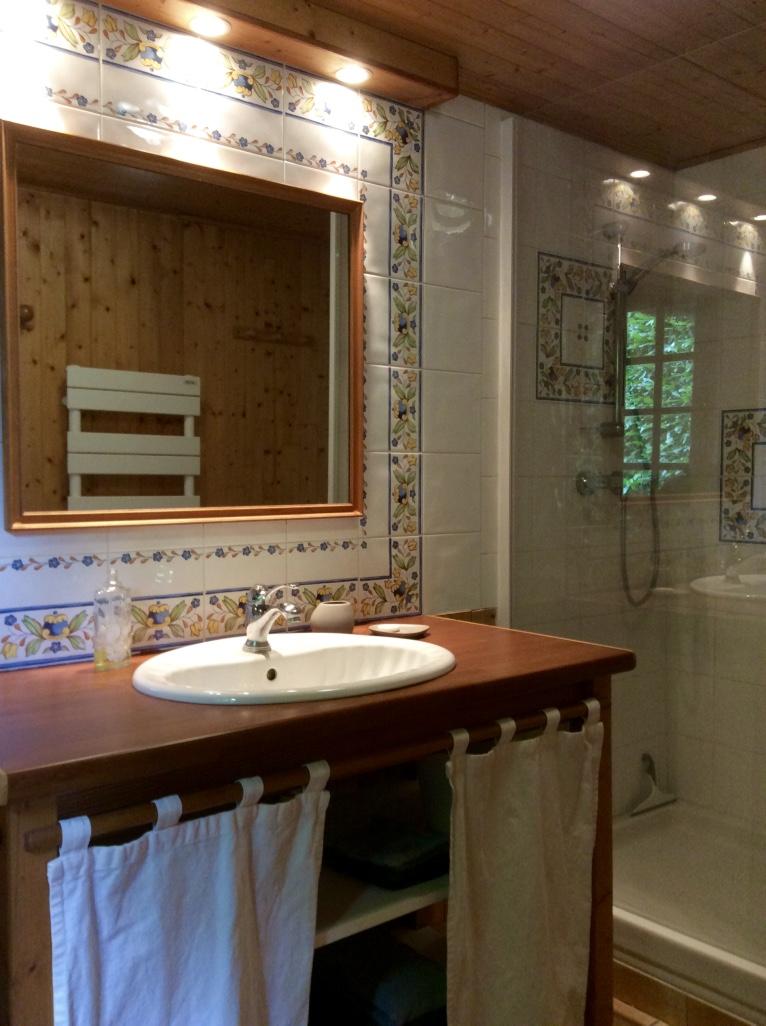 Salle d'eau/douche Gîte la Mare au Coq