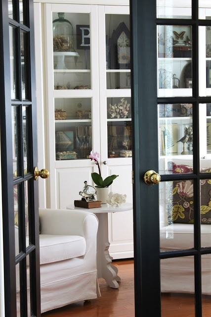 Look how gorgeous these french doors look in black!
