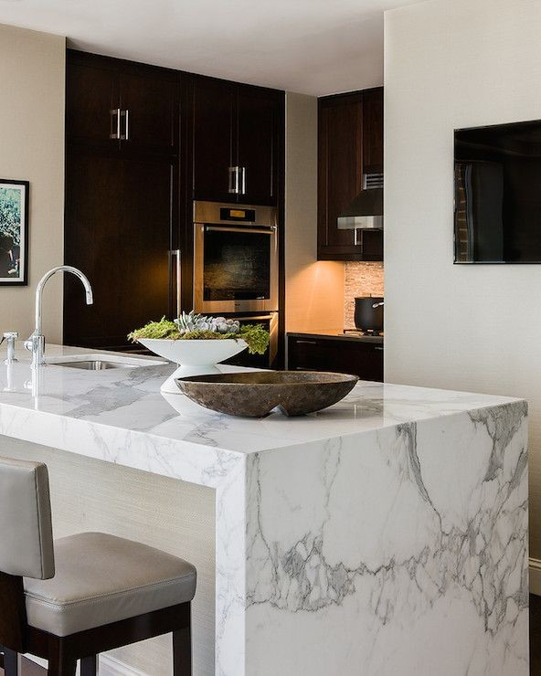 waterfall edge granite countertop