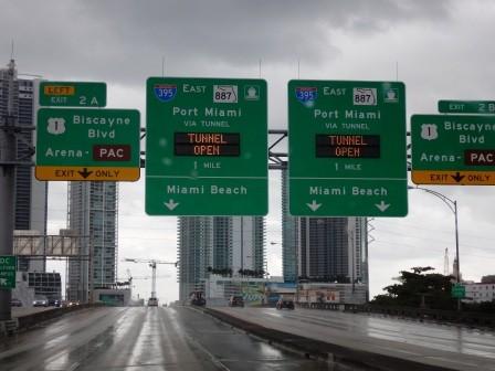 Miami empfängt uns nicht gerade freundlich..