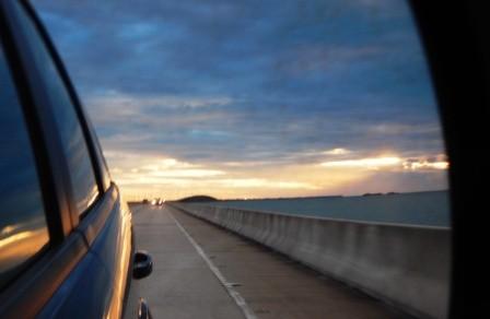 Den Sunset sehen wir leider nur im Rückspiegel...