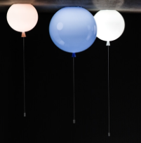 Suspension en verre ballon par Brokis.