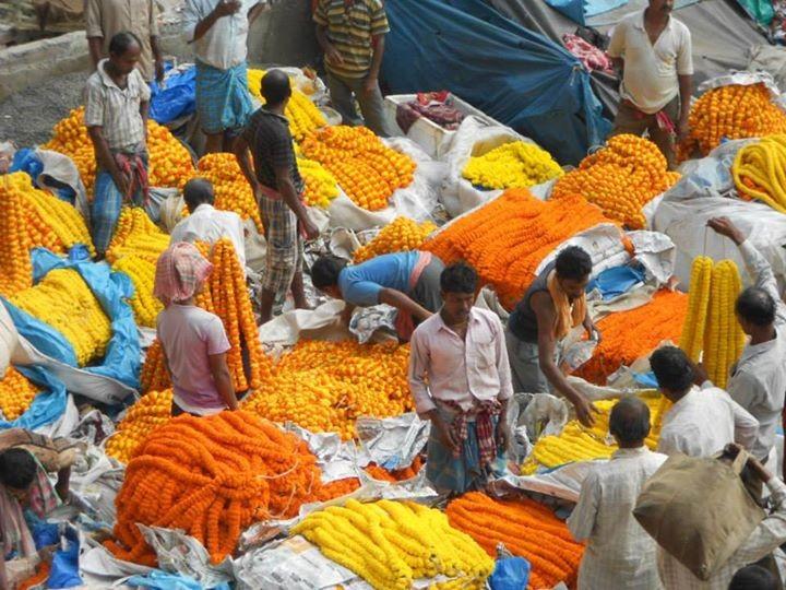 Flower market - Calcutta - Inde 2014