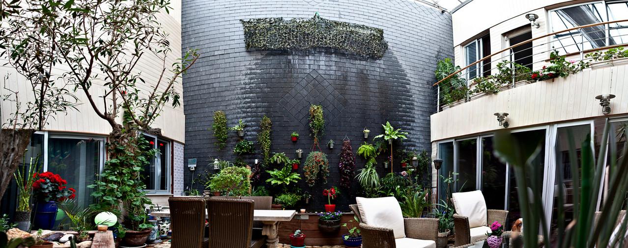 Jardin d'hiver: mur d'eau