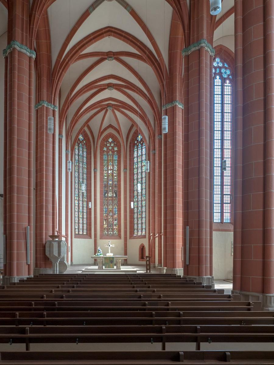 Das Hauptschiff der Marienkirche