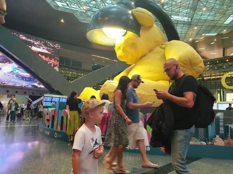 Der Flughafen in Doha