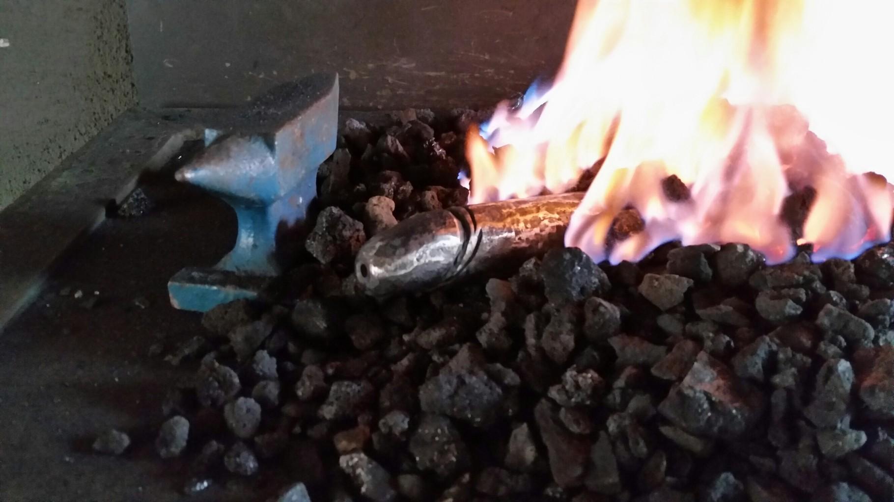 im Feuer - Eichel fertig,