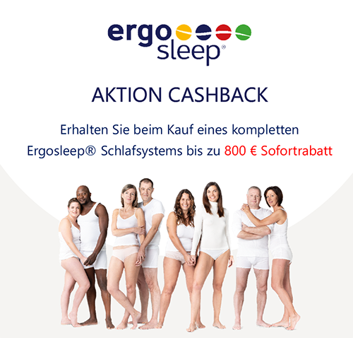 AKTION CASHBACK - ergosleep - bei Klingler Bettenstudio in Innsbruck