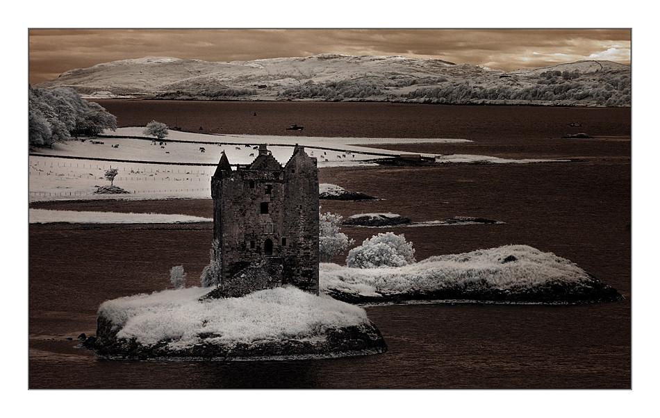 Castle Stalker / Loch Linnhe IV (Infrarot)