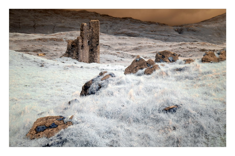 Ardvreck Castle, Loch Assynt, Sutherland, Highlands VII (Infrarot)