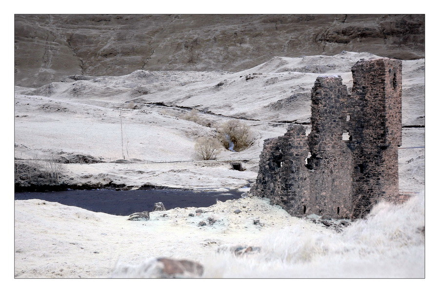 Ardvreck Castle, Loch Assynt, Sutherland, Highlands VI (Infrarot)