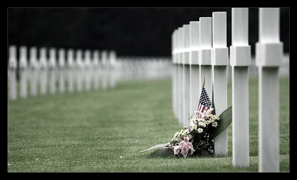 US-Soldatenfriedhof mit Gedenkstätte bei Henri-Chapelle II